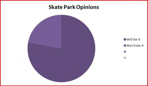 The results to my survey in a graph.
